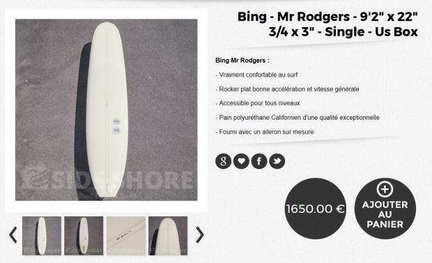 Bing Surfboard-Mick-Rodgers-Model