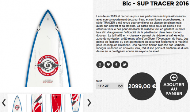 bic SUP Tracer 2016