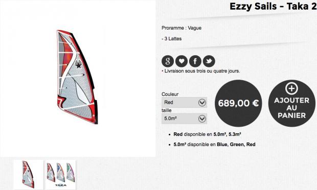 ezzy sails taka 2