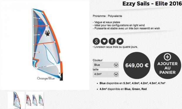 ezzy sails elite