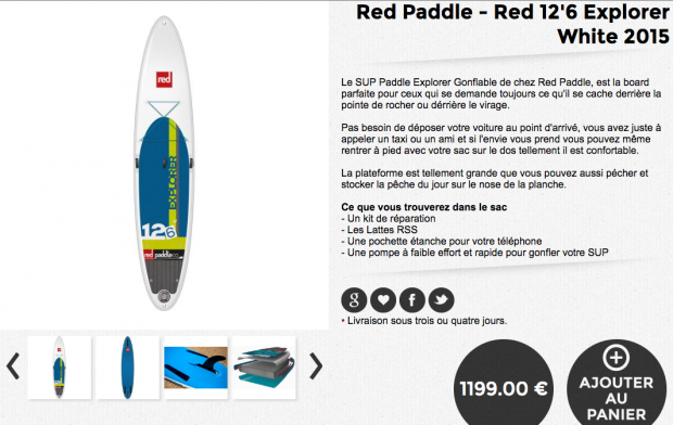 red paddle explorer