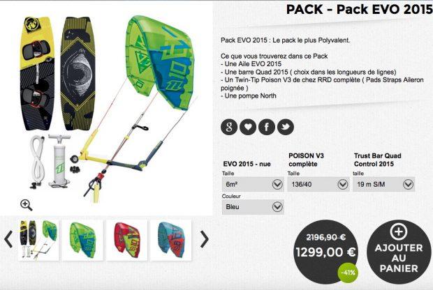 pack evo kitesurf