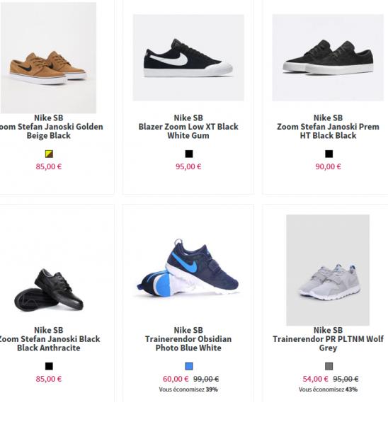 Notre boutique Nike sb