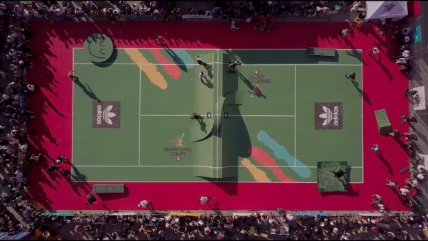 le terrain de tennis de rêve by ADIDAS skate