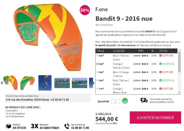 Aile de kite surf à vendre ou à acheter