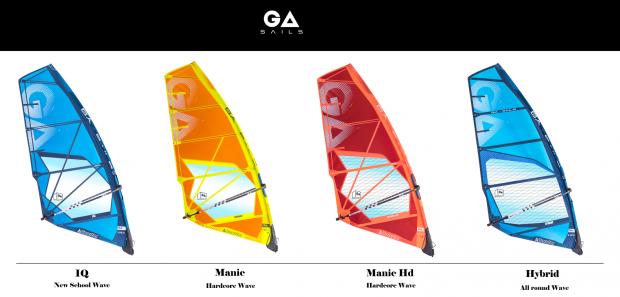 Ga Sails - Gamme vague 2019 - IG / Manic / Manic HD / Hybrid