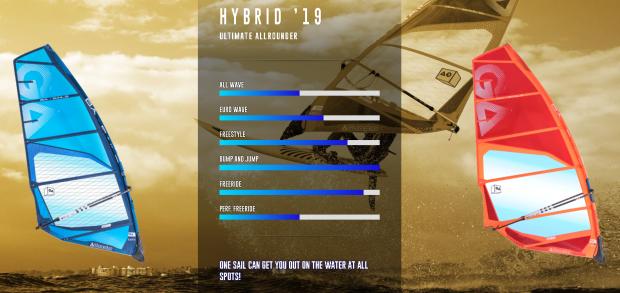 Ga Sails - Gamme vague 2019 - Hybrid 2019