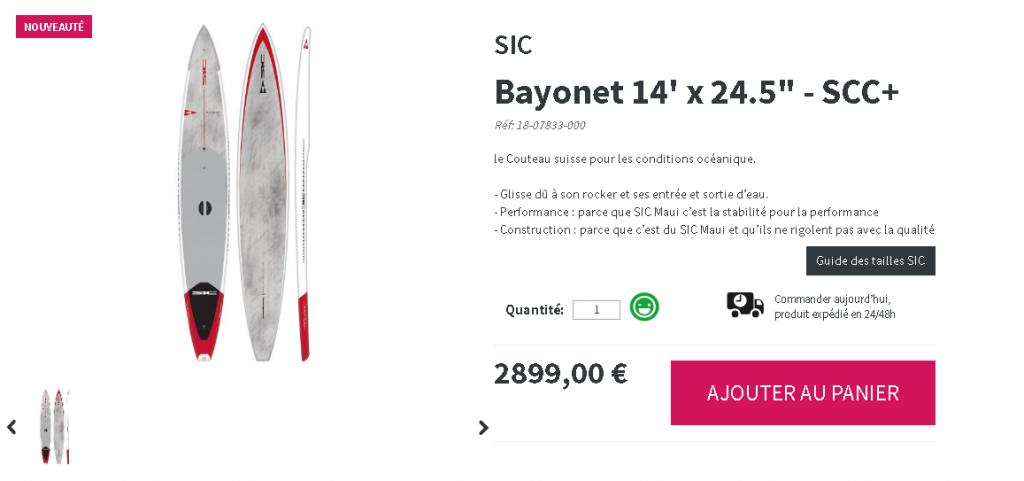 bayonet sic sup