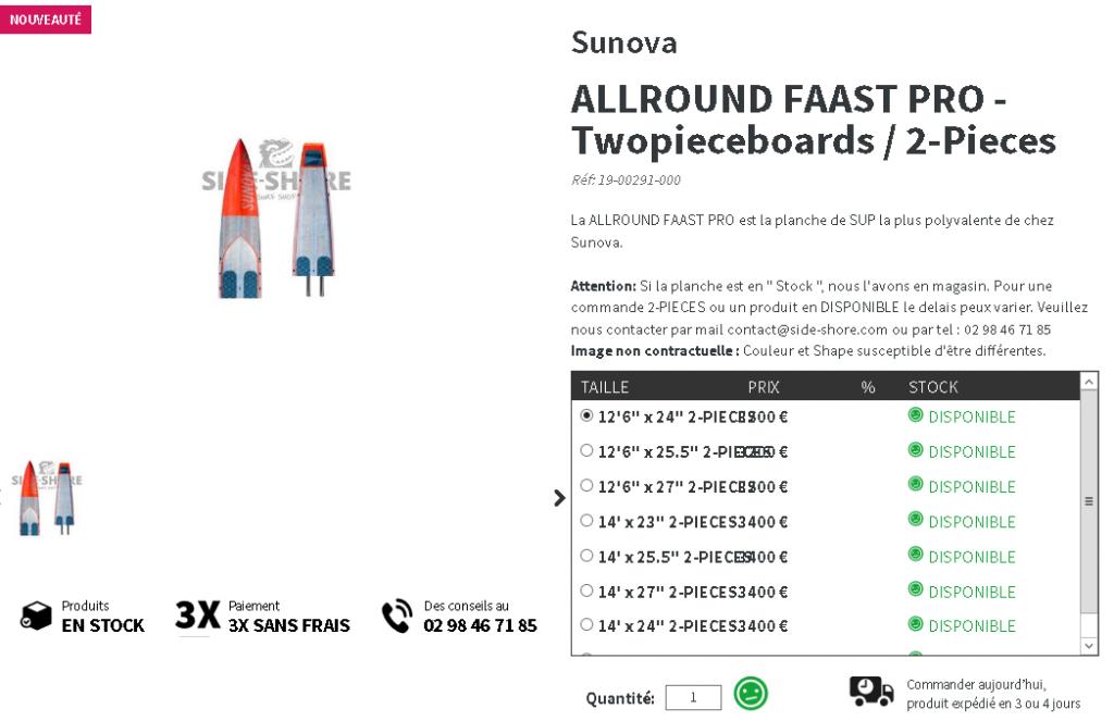 Sunova Sup twopieceboard