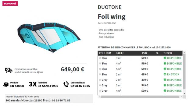 Wing foil duotone